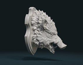 Wild Boar Mounted Head 3D printable model