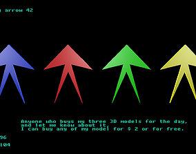 Low poly arrow 42 3D model