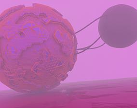 pinkZz planet 3D asset