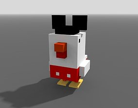 Voxel Mickey Mouse Chicken 3D asset