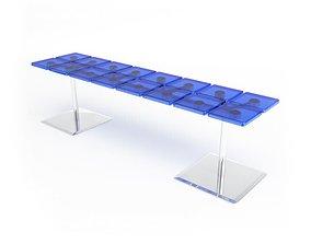3D model Blue Modern Table