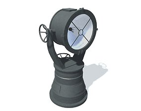 3D model Fictional ship-searchlight 5