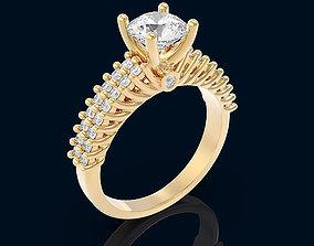 diamond-ring Women ring 3D print model
