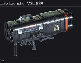 3D model Scifi Missile Launcher MSL 889