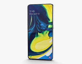 3D Samsung Galaxy A80 Ghost White