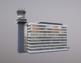 3D model Control Tower EHAM Building Tower Amsterdam 1