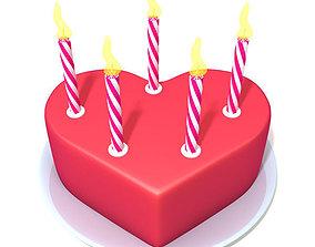 3D Valentine Cake