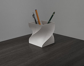 3D printable model Pencil case - Twisted Cube