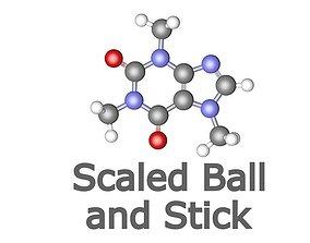 3D model Caffeine molecule drowsiness