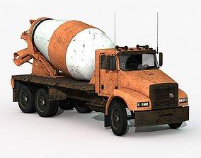 Cement Mixer Truck 3D asset