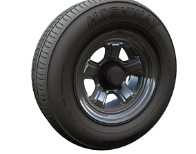 Dodge highpoly wheel 3D model