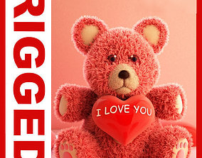 Valentine Teddy Bear 3D model