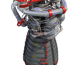 3D RS-25 Space Shuttle Rocket Engine