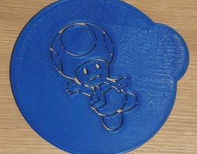 Toad coffee stencil 3D print model