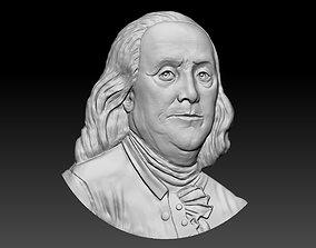 3D printable model man Benjamin Franklin