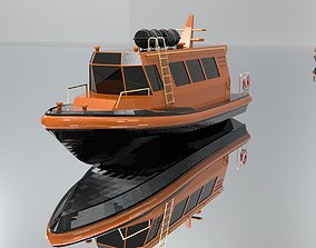 Crew Boat 3D model realtime