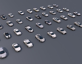 Pack Of Sports Cars Low Poly Game 3D asset
