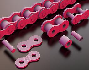 3D printable model STANDARD ROLLER CHAIN - ANSI 180