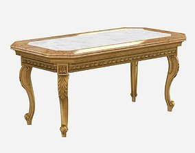 French Century Transitional Giltwood and Marble 3D model