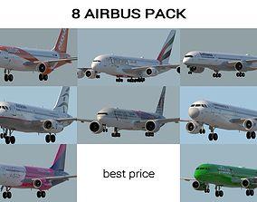 3D model 8 AIRBUS PACK