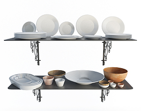 Tableware Set Iron 3D