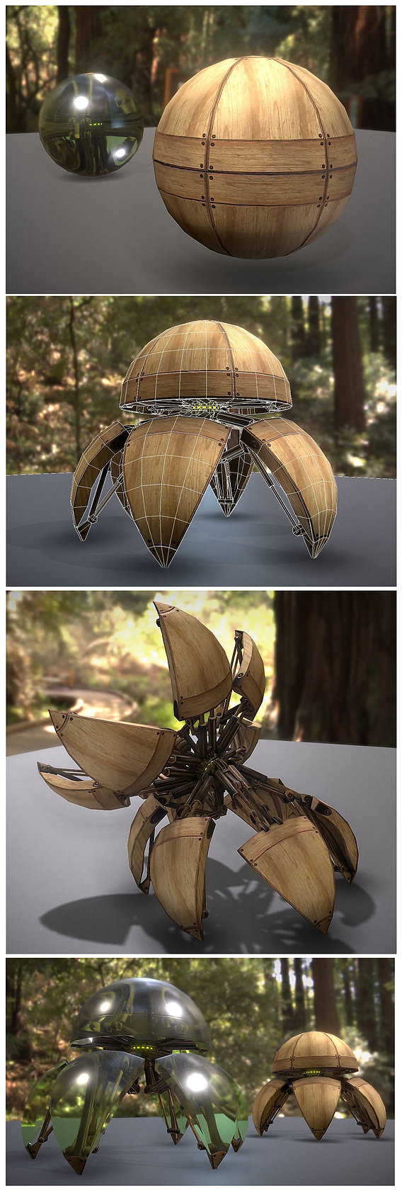 Hydraulic Sphere Bot - Forest Version