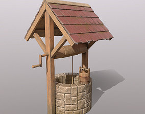 3D model Low-poly Stone Well