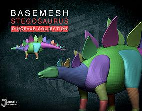 Basemesh Stegosaurus 3D