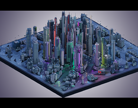 Futuristic City plus Cars nr 1 3D
