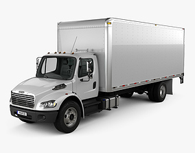 3D Freightliner M2 106 Box Truck 2012
