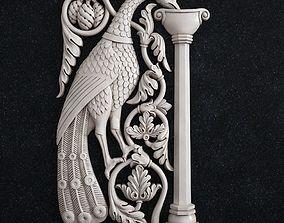 Decor bird peacock baroque 3D printable model