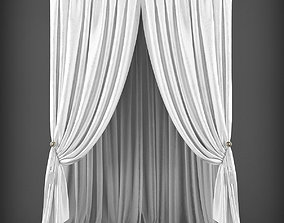 low-poly Curtain 3D model 222