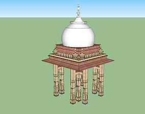 indian jodhpuri stone chatri 3d modal rigged