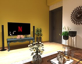 Antique or Heritage or Classical Living Room 3D model