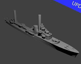 Italian Soldati Class Destroyer Warship 3D print model