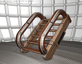 Wood Stairs - Construction Element 10 3D asset