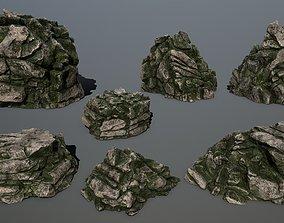 rocks 3D asset VR / AR ready mountain mount