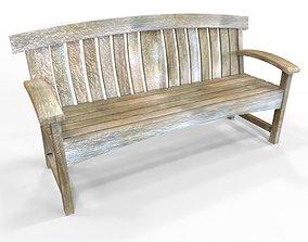 3D model realtime Garden Bench