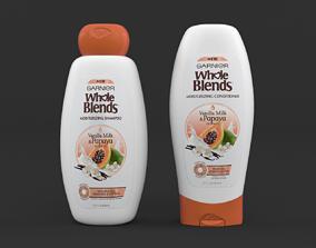 3D model Garnier Whole Blends Moisturizing Shampoo and