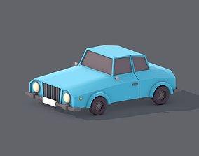 Lowpoly Car 3D asset