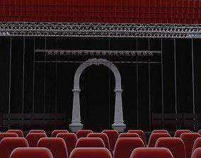 3D model concert hall scene