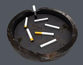 3D asset VR / AR ready smoke Ashtray
