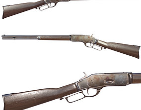 3D asset game-ready Winchester 1873