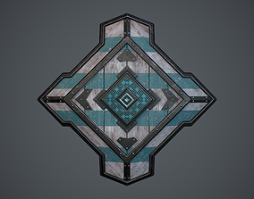 3D asset low-poly Medieval Shield