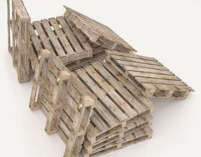 European pallets collection 3D model
