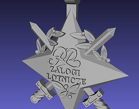 Official polish air force star decoration 3D print model