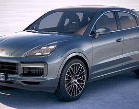 3D Porsche Cayenne Turbo Coupe 2020