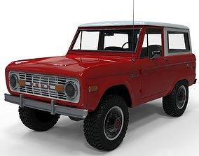 3D model Ford Bronco 1975