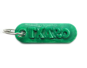 3D print model TXARO Personalized keychain embossed