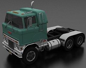 3D asset H-Series HDT-950 Semi Truck Sleeper Cab 1961